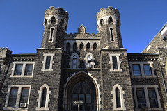 Baltimore City Jail (Monument City) Tags: old usa house tower castle monument stone md memorial gate central police maryland chapel front baltimore historic prison cop gatehouse booking historicbuilding centralbooking cityjail monumentcity