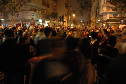 Purim street party. Tel Aviv, 2006