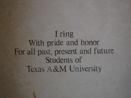 Inscription on Albritton Clock Tower on the Texas A&M Campus