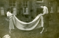 Image titled Folding Washing, 55 Dinart Street, Riddrie, 1952