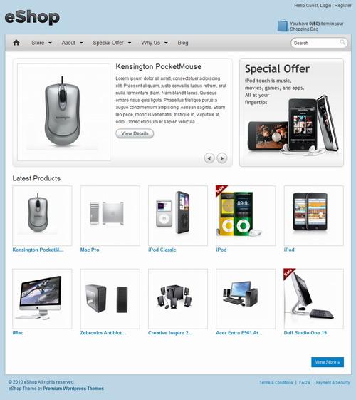eShop   Templatic Wordpress Theme