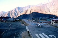 Lukla Airport at 2,800m above see level