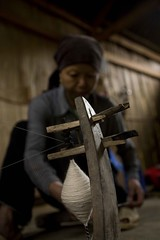 Weaving (DarrenWilch) Tags: ca new pink black flower color beautiful festival fan asia year indigo culture x cotton ba tet dye minority weaving weave sapa hmong baca earthasia