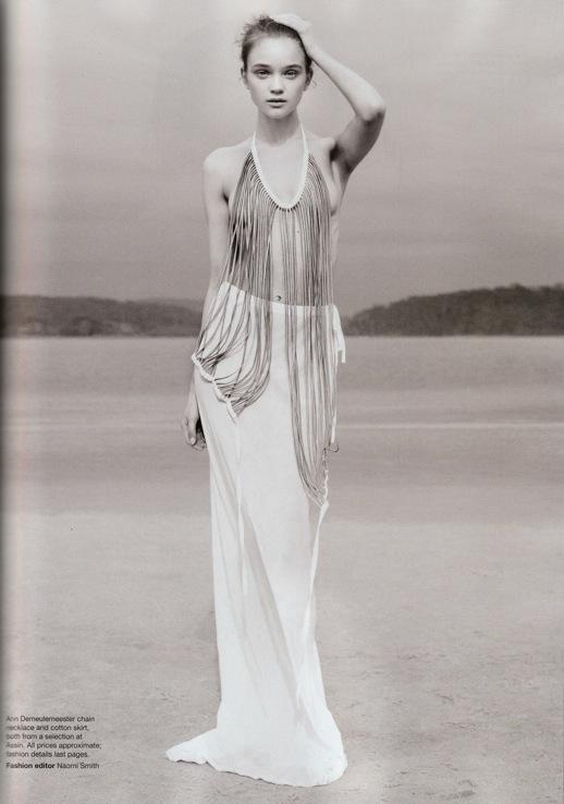 Ann Demeulemeester SS2010 multi zipper vest Vogue Australia