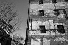 Peeling Layers (Lori Foxworth) Tags: decay palimpsest oldbuilding barrentree quotlorifoxworthquot quotlorifoxworthphotographyquot quotblackwhiteandrawquot quotyourdailycheesesteakquot