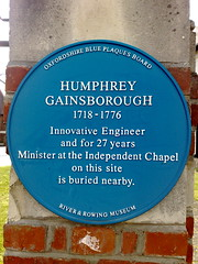 Photo of Humphrey Gainsborough blue plaque