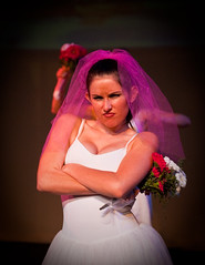 Angry pouty pretty bride