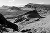 Looking across to Cleat, Skye (James_at_Slack) Tags: bw skye clouds scotland shadows cliffs hills crags cleat quiraing trotternishridge biodabuidhe lochcleat lochleumnaluirginn