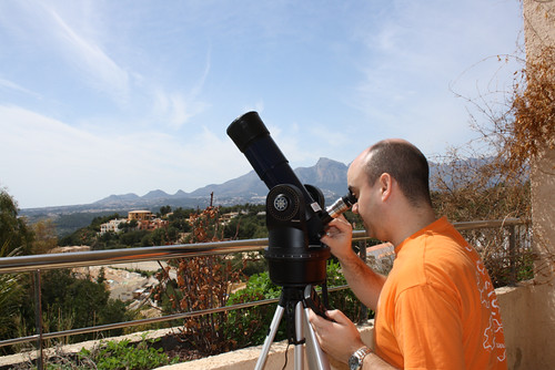 Observación solar en Altea