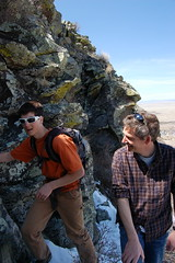 Climbing Wagon Mound (Ann Bryan) Tags: santa sun southwest wagon dessert indian spanish adobe fe mound highaltitude