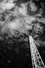 Crane (Sean Needham Photography) Tags: blackandwhite españa blancoynegro spain industrial crane catalonia catalunya grua industria grue cataluña manresa espanya blancinegro elbages seanneedham seanseanneedhamphotographycom httpseanneedhamphotographycom httpseanneedhames