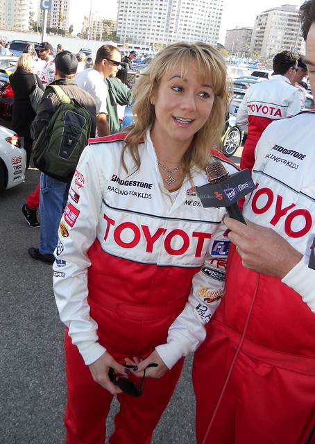 Megyn Price, Toyota Grand Prix of Long Beach, Celeb Practice