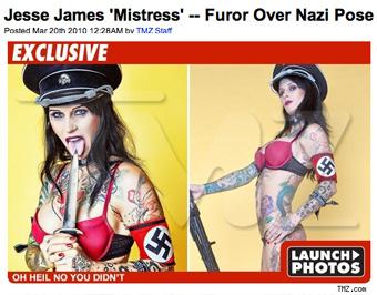 Michelle McGee Nazi Pose
