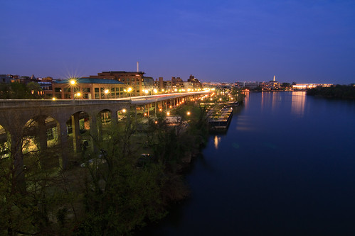 Georgetown Waterfront at Twilight