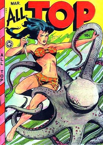 Wednesday Comics: Octopus Bikini Knife Fight!