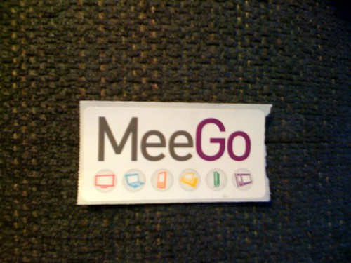 MeeGo Sticker by Dawn Foster, All rights reserved