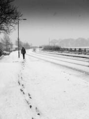 P1150870 (Adam BStar) Tags: blackandwhite snow walk derbyshire footprints ripley fz18 panasonicfz18