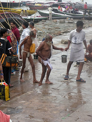 Bathers Duo 1.1 Varanasi (amiableguyforyou) Tags: india men up river underwear varanasi bathing dhoti oldmen ganges banaras benaras suriya uttarpradesh ritualbath hindus panche bathingghats ritualbathing langoti dhotar langota