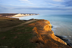 The Seven Sisters, Seaford Head, East Sussex (TimSmalley) Tags: sunset sea seascape landscape sussex chalk cliffs sevensisters seaford cuckmerehaven