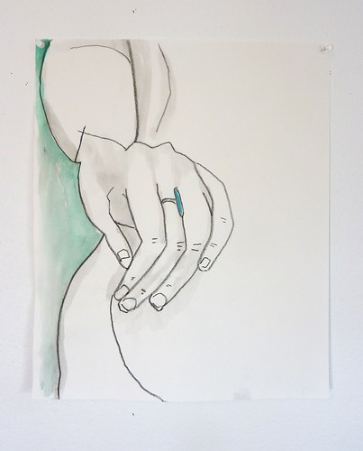 Hand behind a back