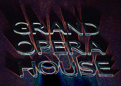 Distorted Belfast Grand Opera House Sign