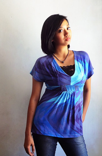 blue blouse from DEI