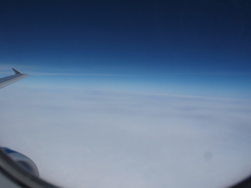 Flying over the East China Sea