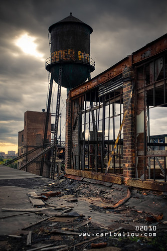 abandoned factory tower