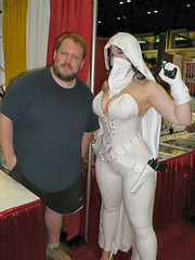 Ghost and Adam Hughes (BelleChere) Tags: comics costume orlando cosplay ghost adamhughes megacon darkhorse