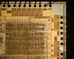 Intel 486 DX (yellowcloud) Tags: up computer ceramic pins chip data binary cpu electronic circuit bit processor logic byte integrated microprocessor