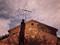 CMB (EYECCD) Tags: desktop longexposure wallpaper house color home night clouds shadows antenna 1920 backround suberbs gf1