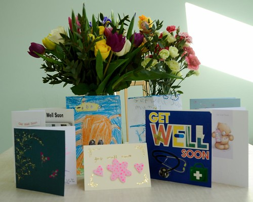 Flowers and cards