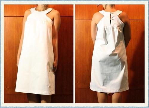 White Sleeveless Dress (Simplicity 2922)