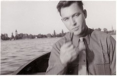 Man on the water (paws22) Tags: man water boat pipe handsome smoking boating