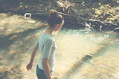 [108/365] (emily golitzin) Tags: trees water girl creek river sister marin catie sananselmo thankyouall project365 365days explored tamronspaf2875mmf28xrdildasphericalif 108365 canoneosdigitalrebelxsi