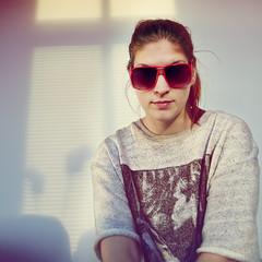 red sunglasses fashion vintage design lomo sweden style 80s fk emelie fok girlinsunglasses linusekenstam eos7d canon7d