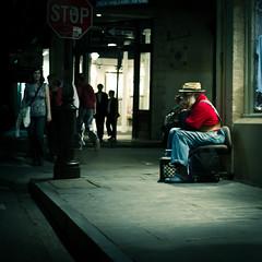 stay cool (b*wag) Tags: street musician corner la neworleans stop nola harmonica