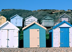 Beach huts - Canon eos 550d (@Doug88888) Tags: pictures hinge new wood blue sea england sky cliff colour green beach digital forest canon landscape eos rebel coast wooden rust image creative victorian picture commons pebbles hampshire images cliffs huts pebble buy milford yelow purchase canonef28135mmf3556isusm 550d ef28105mmf3545usm flickrexportdemo doug88888