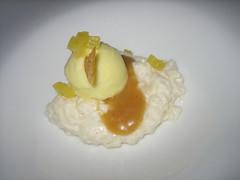 Rice Pudding (Mi-Wu) Tags: cambridge dinner menu rice massachusetts main pudding mango vegetarian april tasting 2010 cragie 10course cragieonmain