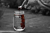 pardon me, while i burst into flames. (christanleigh:)) Tags: red food water photography droplets hand allen mason coloring jar fingernails dye christan