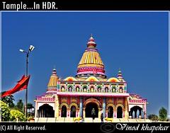 Tample...In HDR. (Vinod Khapekar) Tags: life light landscape nikon flickr nagpur naturesfinest 18200mm d90 devghar thebestofday goldensummer