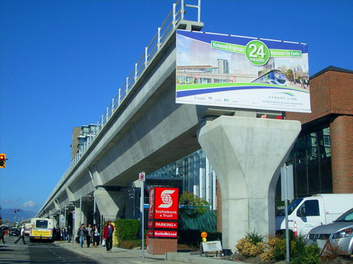 Southern terminus of the Canada Line at Brighouse