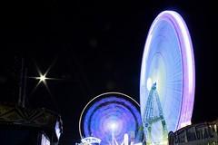 Noria (jlaN5800) Tags: espaa luz wheel sevilla spain neon feria colores seville andalucia amusementpark nightshots nocturnas noria largaexposicion loongexposure