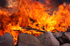 Fire (AppleBlossom12) Tags: wood camping orange nature beautiful beauty yellow canon outside outdoors fire spring nice rocks pretty smoke flames logs campfire bonfire attractive dslr fishcamp lilylake sigma18250 rebelxsi