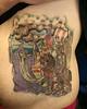 viking stomach tattoo finished Tattooed by Johnny