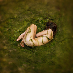 6am observation (brookeshaden) Tags: baby nature girl observation moss daughter mother wrapped fetus curled algae 6am brookeshaden
