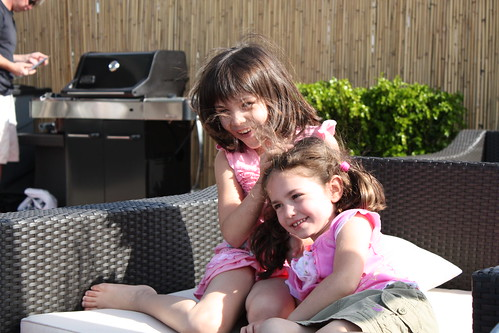 Emma and Eva on the deck