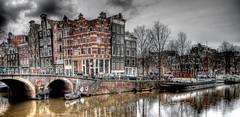 Brouwers & Prinsengracht (Jouko van der Kruijssen) Tags: houses sky holland netherlands amsterdam architecture buildings canal nederland olympus canals prinsengracht zuiko hdr brouwersgracht e510