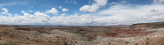 Painted Desert (Petrified Forest), Arizona (rwchicago) Tags: arizona panorama southwest landscape route66 desert az painteddesert nationalparkservice petrifiedforestnationalpark photostitch petrifiedforest lpdesert lpdeserts