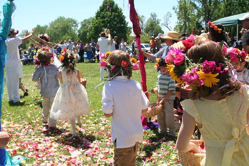 First Graders Throw Their Petals